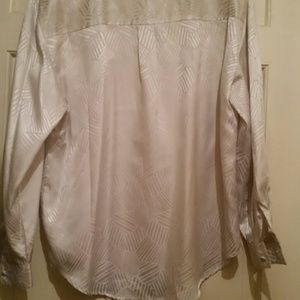 laura and jayne Tops - Laura and Jayne Silver Button Down Blouse Sz 14